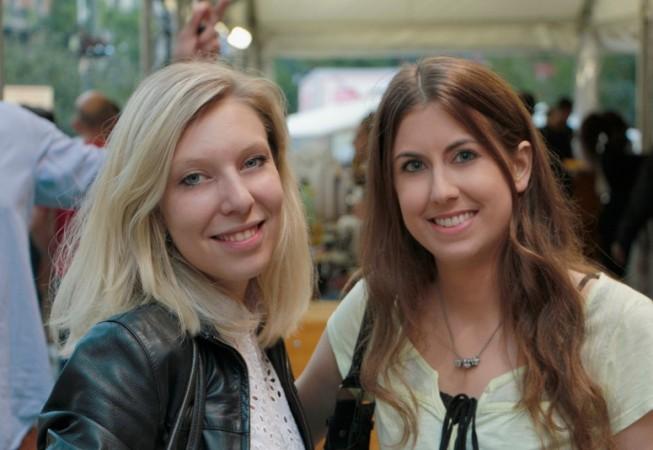 Milano Film Festival 2014 - Viviana Amoretti e Cecilia Brianza, attrice protagonista e regista del cortometraggio <em>L'esame</em>