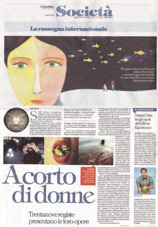 A Corto di Donne 2015 - Rassegna stampa