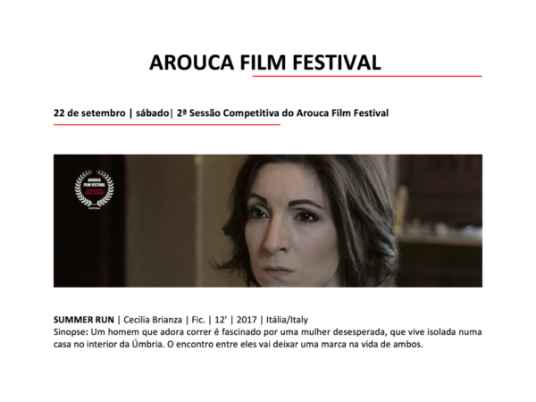 Arouca Film Festival 2018 - Corsa d'estate