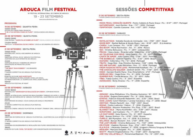 Arouca Film Festival 2018 - Screenings